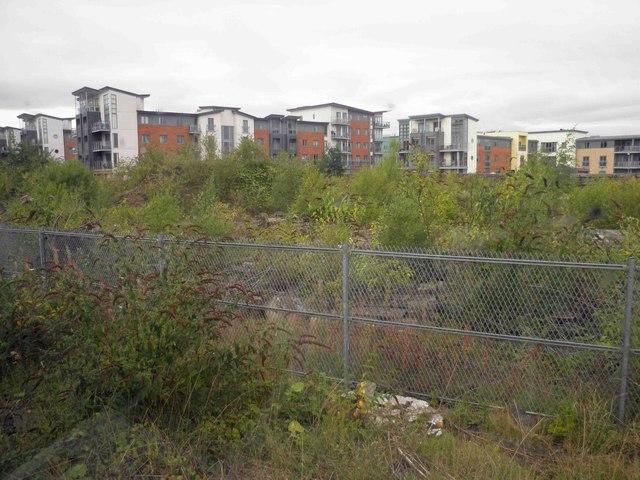 Apartments alongside the railway, Gateshead