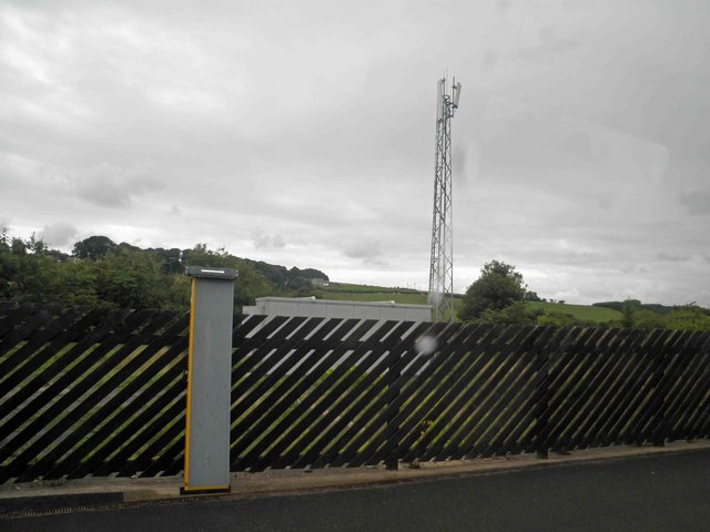 Telecomms mast from Alnmouth railway station
