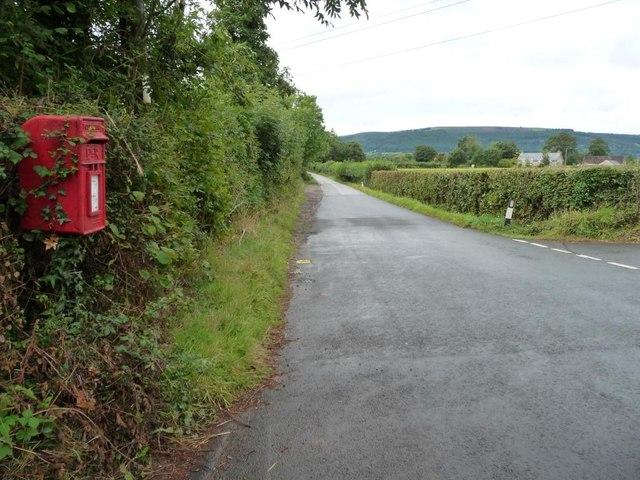 Postbox at Llanvair