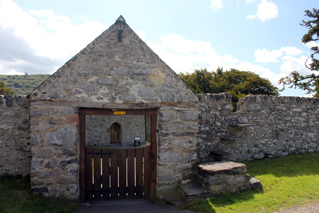 Church of St Mary in Canovium Roman Fort off the B5106 Caerhun