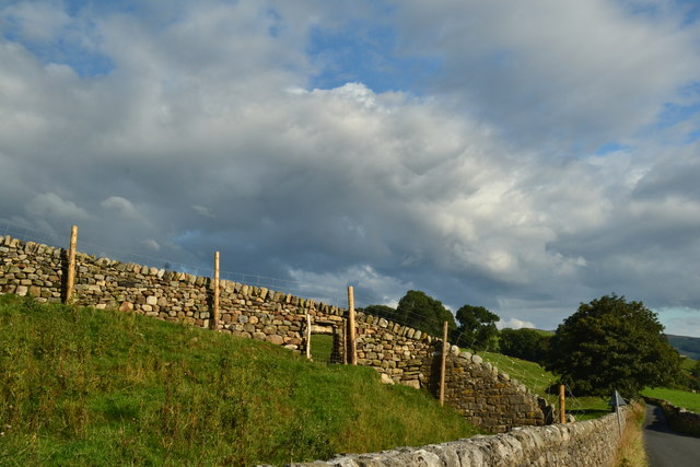 Dry stone wall, Burnsall Lane