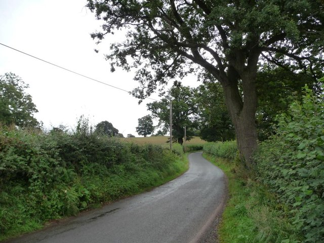The road to Croes Llanvair