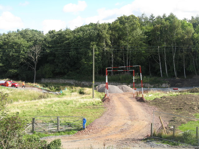 Construction site entrance