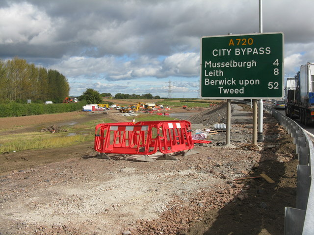 Borders Railway work at Sheriffhall