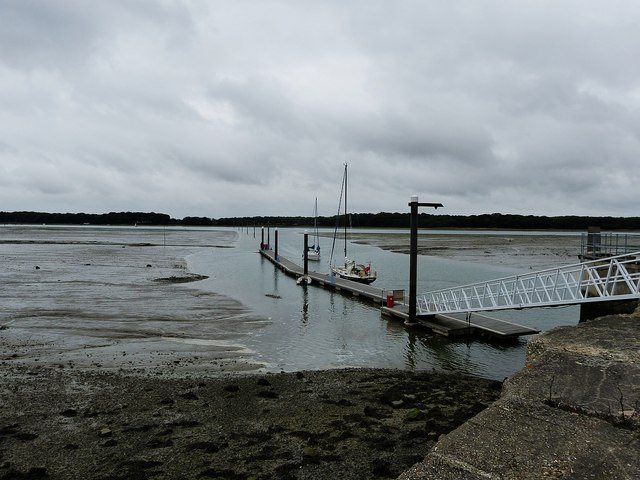 Jetty in Chichester Marina Channel