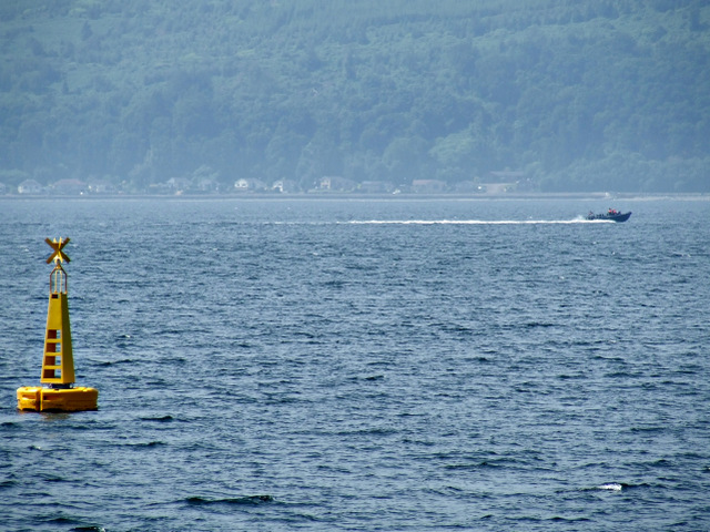Submarine escort craft in the Firth of Clyde