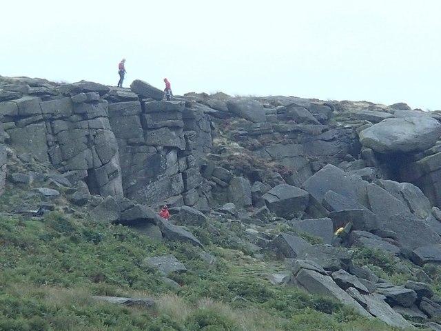 Climbers on Burbage Rocks