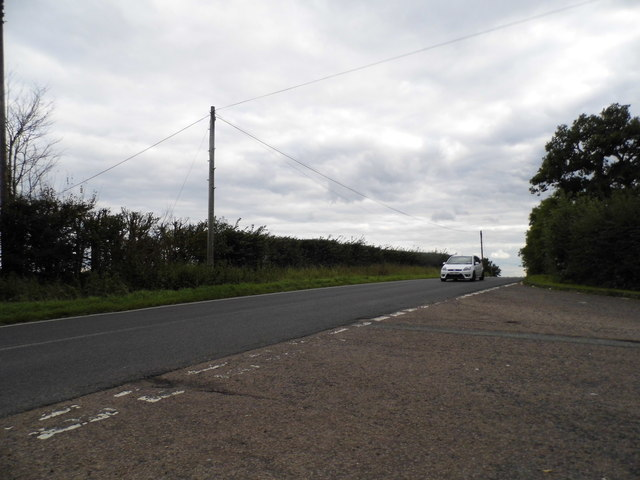 Cattlegate Road at the junction of Coopers Lane Road