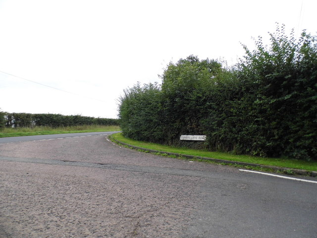 Coopers Lane Road at the junction of Cattlegate Road