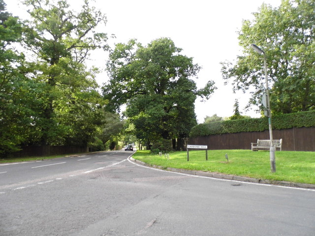 Carbone Hill at the junction of The Ridgeway