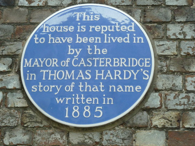 Blue plaque in Cornhill