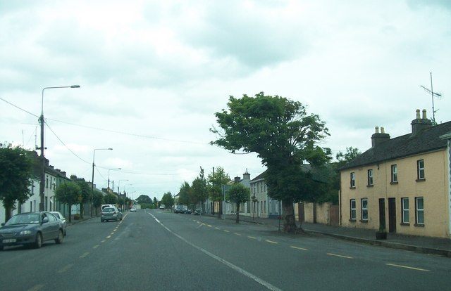 The wide main street of Clonmellon, Westmeath