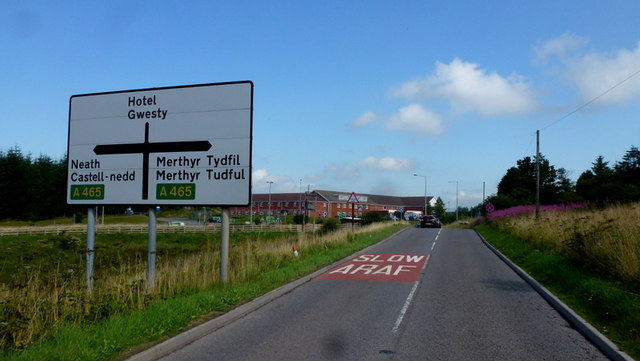 Approaching the A465
