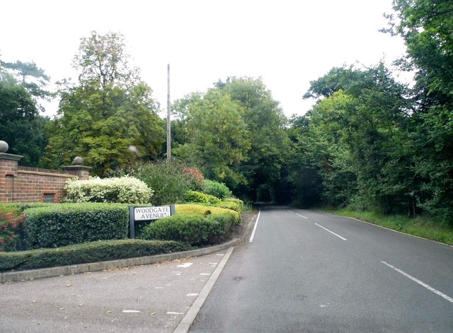 Coopers Lane Road at the junction of Woodgate Avenue