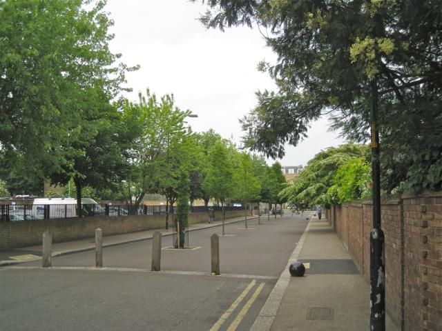 Daneville Road, Camberwell Green, pedestrian section