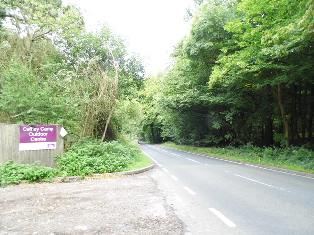 Carbone Hill at the entrance to Cuffley Camp Outdoor Centre
