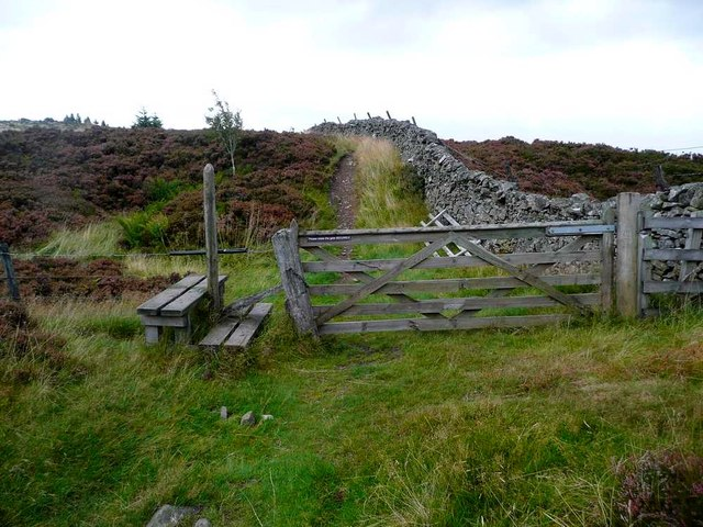Gate on the Southern Upland Way