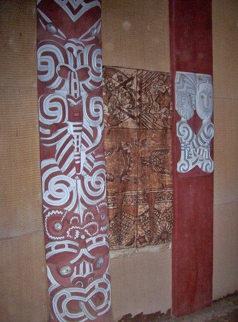 Maori Carvings, Clandon Park