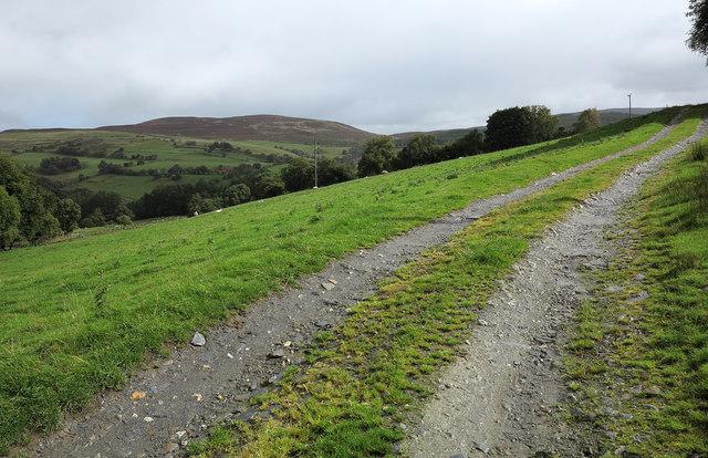 Farm access road leading to Gwern-yr-ewig