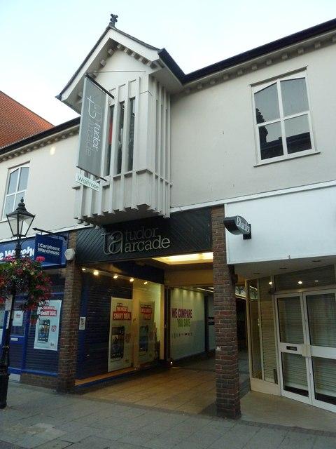 Tudor Arcade, Dorchester town centre