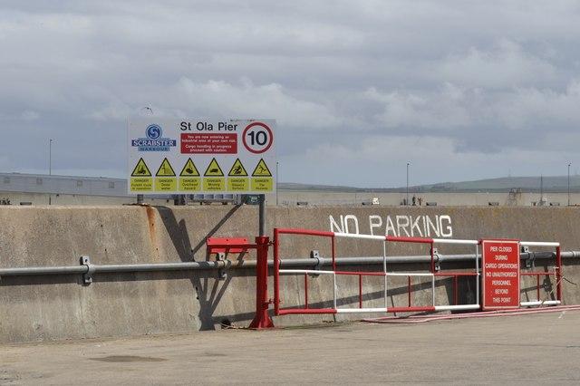 St Ola Pier Sign, Scrabster Harbour, Scrabster