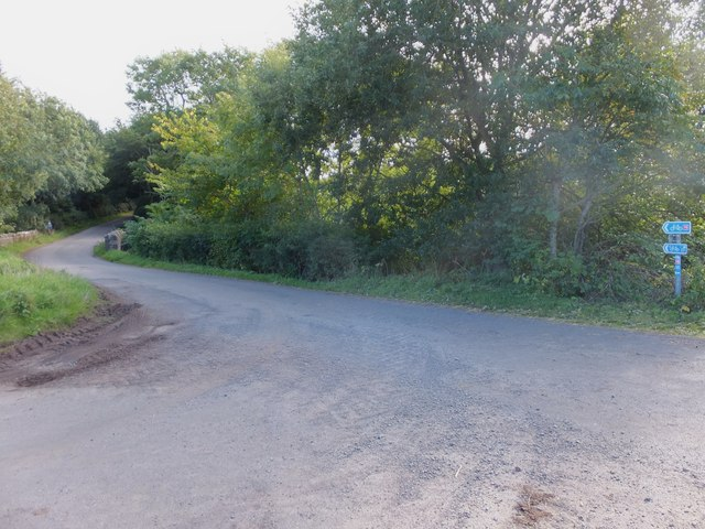 Minor road over the Ale Water