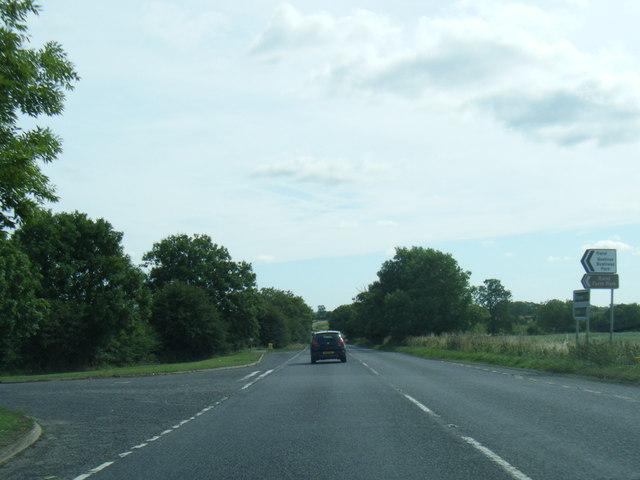 A158 eastbound at Village Lane End