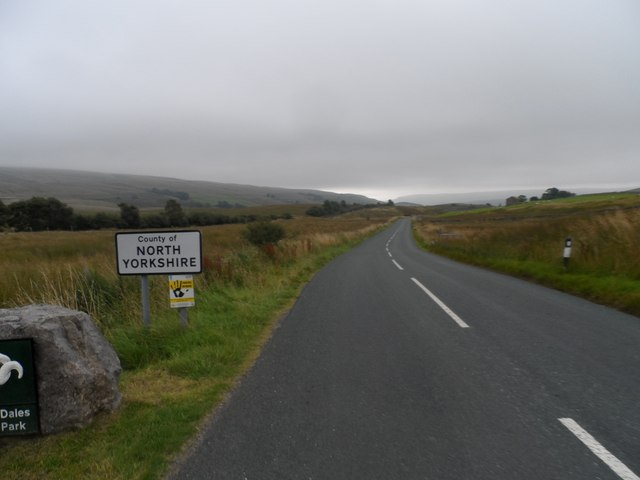 B6259 enters Yorkshire Dales National Park