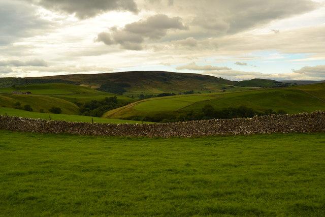 Pasture land above Barben Beck