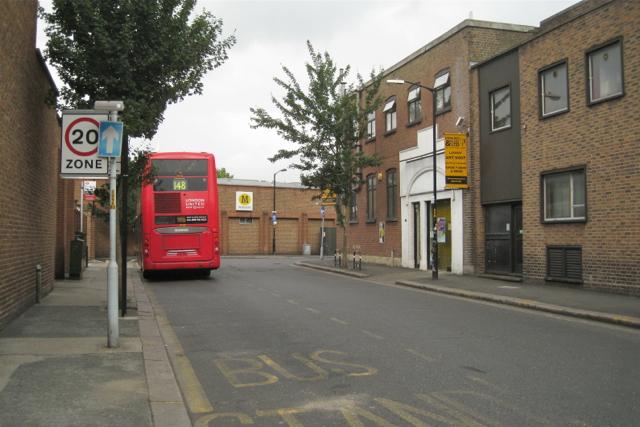 Bus stands, Orpheus Street, Camberwell Green