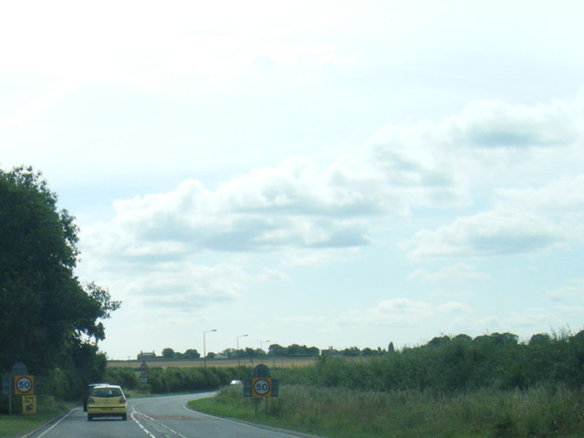 A158 Horncastle Road leaving Wragby