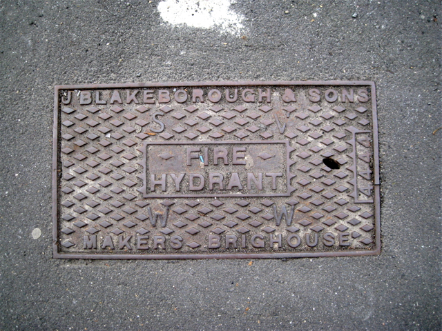 Cast iron fire hydrant cover, Orpheus Street, Camberwell Green