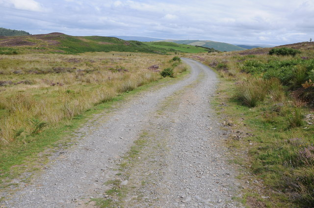 Track and bridleway near Bwlch Coch