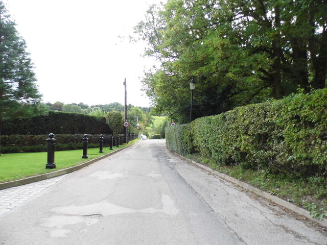 The road to Ponsbourne Park and hotel