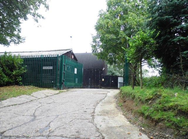 The entrance to Grangewood Farm, Newgate Street