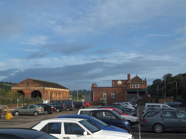Exeter Brewery and former engine sheds