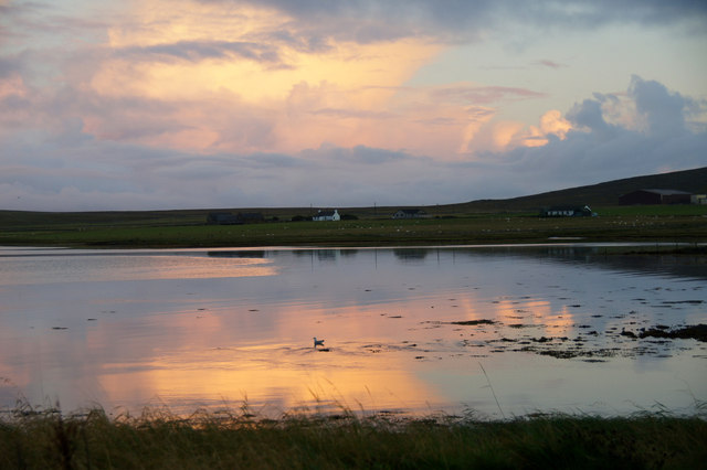Evening over the voe at Baltasound