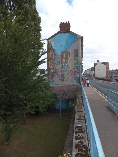 Mural in New Bridge Street, Exeter