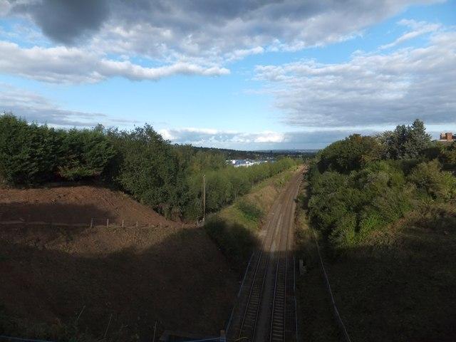 The Exeter to Salisbury railway line