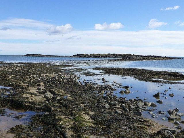 Emblestone at low tide