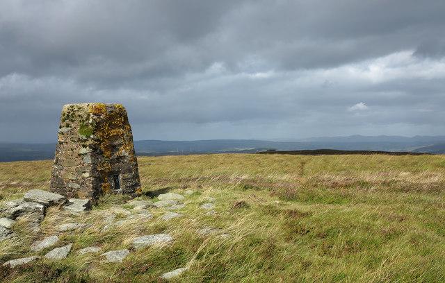 Summit area of Foel Cwm-Sian Llwyd