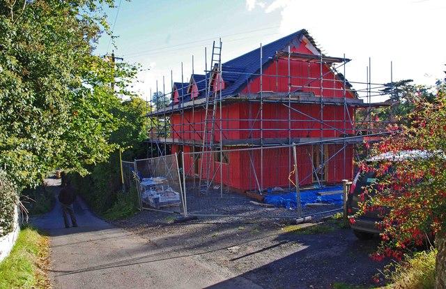 New building under construction, Barkers Lane, Cleobury Mortimer, Shrops