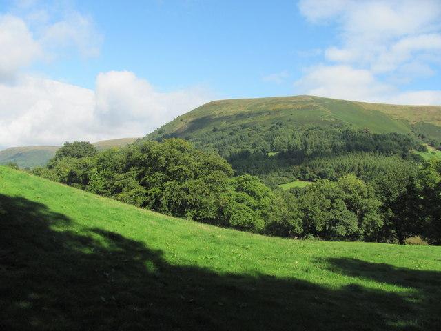 Looking across to Loxidge Tump from Cwm-bwchel