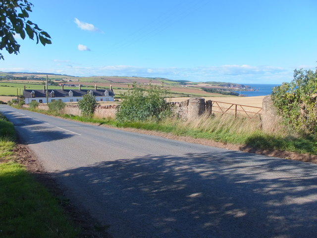 View from Hallydown towards St Abbs