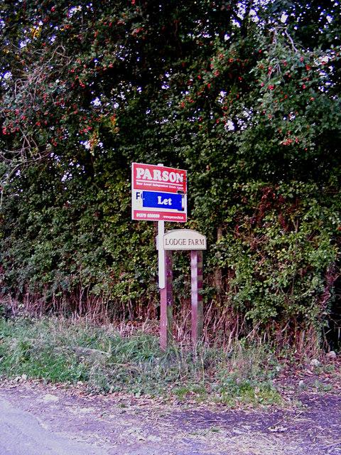 Lodge Farm sign