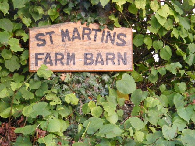 Martins Farm Barn sign