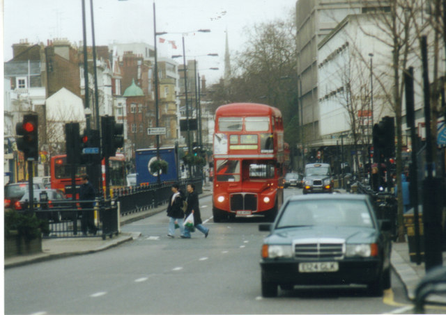 Routemaster bus on Notting Hill Gate, 2002