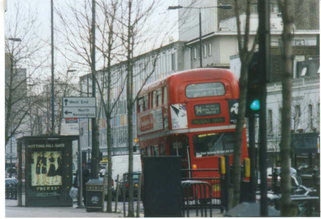94 Routemaster on Notting Hill Gate, 2002