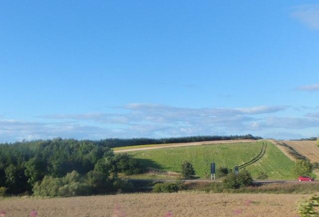 Farmland to the east of Ayton