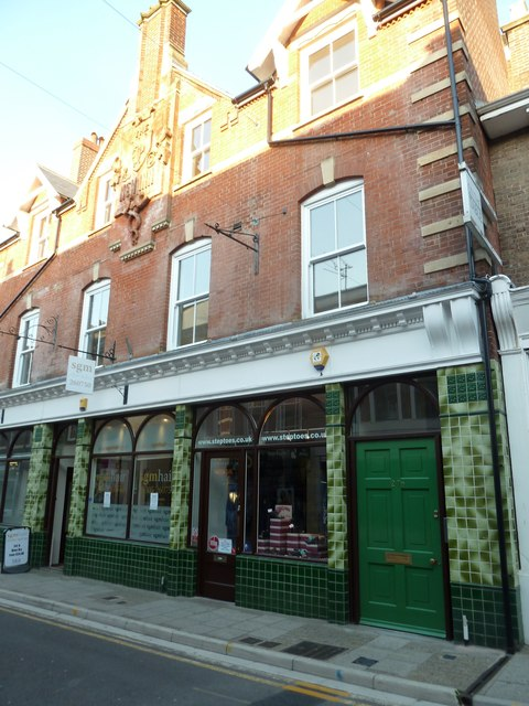 Green tiled building in South Street